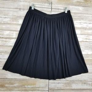 IVANKA TRUMP S Skirt Navy Blue Perma-Pleat A-Line